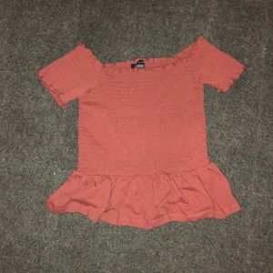 AE Off-The-Shoulder Smocked Tee
